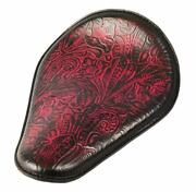 Yamaha Bolt Seat Chopper Harley Sportster Hond 10x13 Antique Red Tooled Leather