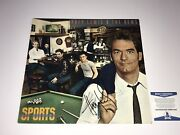 Huey Lewis And The News Rare Hand Signed Sports Vinyl Record Autographed Bas Coa