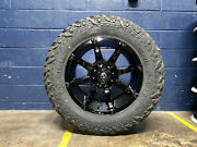 Fuel Coupler D575 Gloss Black Wheels Rims 35 Mt Tires 6x135 Ford Expedition