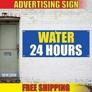 Water Banner Advertising Vinyl Sign Flag Rent Service Pure Fresh 24 Hours Open
