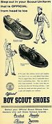 Vintage Ad Print Official Boy Scout Shoes By Genesco 1961 6 X 12.25