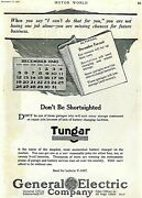 Vintage Ad Print Tungar Battery Charger By General Electric, 1920, 8.25 X 11.5.
