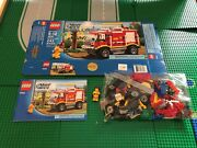 Lego- City-fire- 4x4 Fire Truck- 4208- Used- 100 Complete W/ Open Box