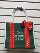 Sentimental Christmas Tote Bag/bible Carrier This Is As Merry As It Gets