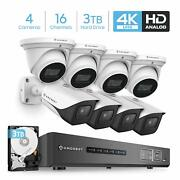 Amcrest 4k 16ch Video Dvr Security 8mp Outdoor Camera System 4 Dome 4 Bullet 3tb