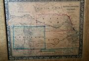 Antique 1860s Millerand039s Map Kansas Nebraska And Colorado And Attached To Dacotah Frmd