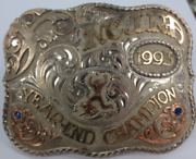 Vintage Rodeo Champion Belt Buckle1993 Ncjra Year-end Championcalf Roping