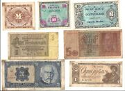 Old Ww2 Paper Money Currency Lot German French Russian World Banknote Reichsmark