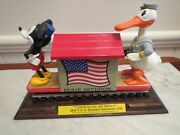 Mickey Donald Disney Handcar Dixie Trolley 1990 With Track 1990 Pride Line