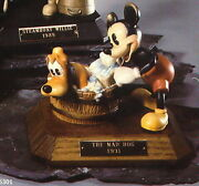 Disney Mad Dog Mickey And Pluto Anri Wood Carving Limited Edition Italy