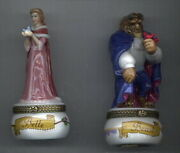 Disney Beauty And Beast Princess Belle And The Beast 2 Figurines Phb Mint