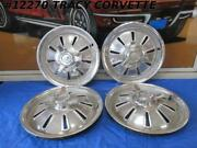 1964 Corvette Hub Caps Wheel Covers - Gm Originals - Polished Survivors Set Of 4