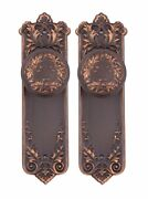 Lorraine French Privacy Doorknob And Backplates Set