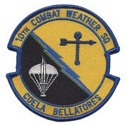 4 Air Force 10th Combat Weather Squadron Coela Bellatores Embroidered Patch