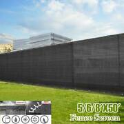 Customize Black 5and039 6and039 8and039 Tall Fence Privacy Windscreen Cover Fabric Shade Mesh
