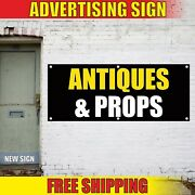 Antiques Props Banner Advertising Vinyl Sign Flag Pawn Shop Art Costume Open Now
