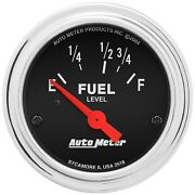 Autometer 2518 Traditional Chrome Electric Fuel Level Gauge