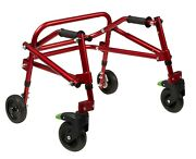 4 Wheel Pediatric Posterior Walker With 8 Wheels Xs Toddler Size Adjusts Folds