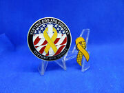 Serving God And Country Support Our Troops 1.75 Coin And Yellow Ribbon Support Pin