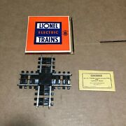 New Old Stock Lionel 120 Super O 90 Degree Crossover, Box, Packet, Connectors
