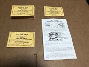 Lionel 480-32 Magnetic Coupler Packet With Factory Folded Instruction Sheet Only