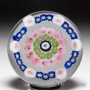 Antique Clichy Spaced Concentric Miniature Glass Paperweight