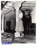 Grace Kelly Leans Against Roof Post Rare Photo