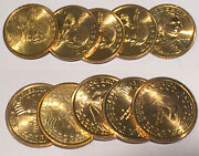 Hoard Of 2002 Year Sacagawea Dollars Contains Pds Coins In Gem Bu And Gem Proof