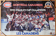 1993 94 Nhl Stanley Cup Champions Montreal Les Canadiens Team Poster Sz 22x34