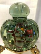 Vintage Mdina Maltese Style Art Glass Gourd Shaped Paperweight Doorstop Clear