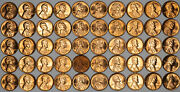 1967 Lincoln Memorial 1c Unsearched Estate Find Gem Bu Red 9 Roll Lot Lmc-67