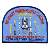 5 Sp-265 Nasa 45th Weather Squadron Patrick Air Force Base Fl Embroidered Patch