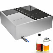 Maple Syrup Evaporator Pan 24x24 Boiling Pan Mirror Stainless Steel Square Pan