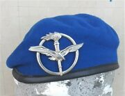 Beret Italian Army Air Force Original Never Used Complete Sz. 7 1/8