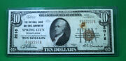 1929 Ten Dollar 10 National Currency Bank Note Spring City Pa