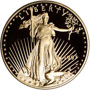 1997-w American Gold Eagle Proof 1 Oz 50 - Coin In Capsule