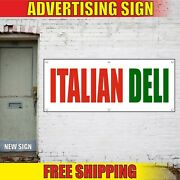 Italian Deli Banner Advertising Vinyl Sign Flag Grocery Delicacy Food Shop Store