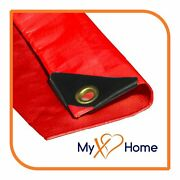 14 X 20 Red Color 12 Mil Heavy Duty Tarp / Canopy