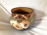 Antique Langley Pottery Lovique Ware Large Hand Painted Bowl Circa. 1900 Signed