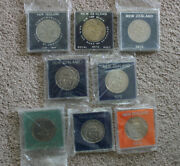 1969-76 New Zealand Uncirculated Dollars 8 Coins - Sealed 0102