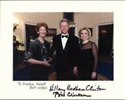 William J. Bill Clinton Inscribed Photograph Signed 02/07/1998 With Co-signers