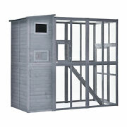 Huge Wooden Cat Condo With Outside Run Area Main House For Sleeping/lounging
