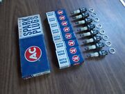 Vintage Ac 46 Fire Ring Spark Plugs With Four Equal Green Rings Corvette Fi 62-3