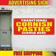 Cornish Pasties Banner Advertising Vinyl Sign Flag Traditional Served Here Sold
