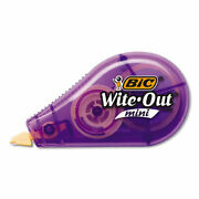 Bic Wite-out Brand Mini Correction Tape, Non-refillable, 1/2 W X 26.2 Ft, Assor