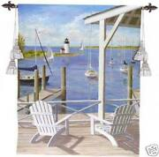 Lighthouse View Nautical Tapestry Waterfront Terrace
