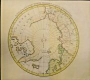 Rare Map Of The Country 30 Degrees Round The North Pole 1786 Genuine Frameable