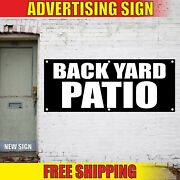 Back Yard Patio Banner Advertising Vinyl Sign Flag Grill Bbq Place Event Party