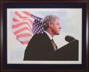 William J. Bill Clinton - Printed Art Signed In Ink