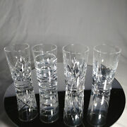 Faberge Clear Crystal Shot Glasses